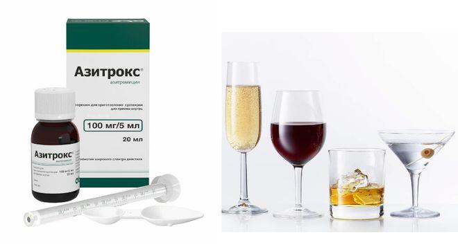 Препарат Азитрокс и спиртные напитки