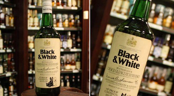 Бутылка виски Black and White