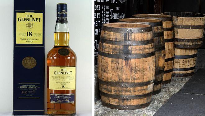 Виски Glenlivet 18 в бочках