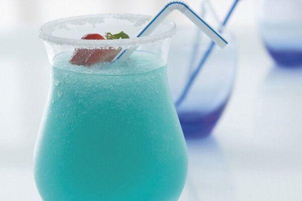 Коктейли с «Блю Кюрасао» безалкогольные