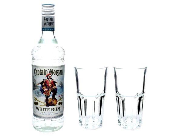 Captain Morgan белый Ром и два стакана