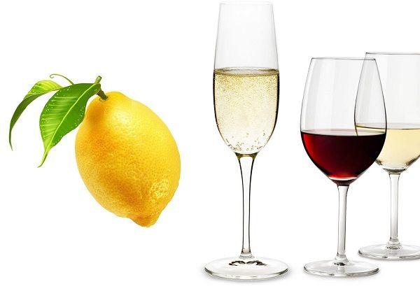 Лимон и спиртное