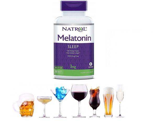 Мелатонин и алкогольные напитки