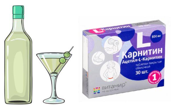 L-карнитин Взаимодействие с алкоголем